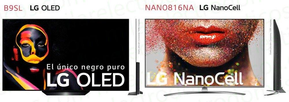 tamaños de smart TVs LG